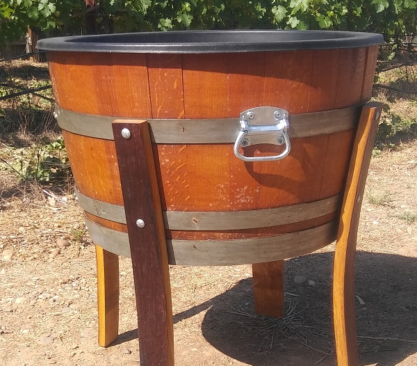 Wine Barrel Ice Bucket from Brave Horse Winery