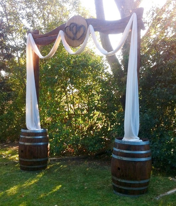 Wedding Arbor Wood with Heart Wedding Rentals from Brave Horse Winery